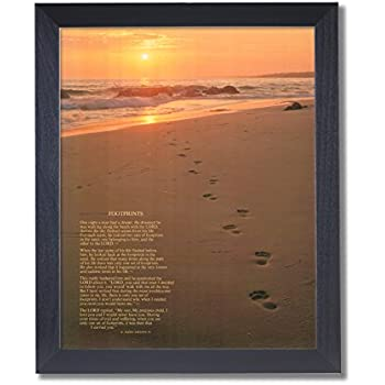 Amazon Com Footprints Poster In The Sand Motivational