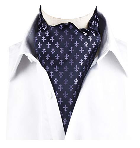 (MENDENG Men Purple Paisley Jacquard Woven Silk Cravat Necktie Scarf Formal Ascot)