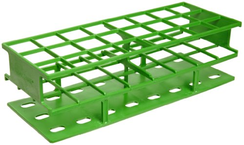- Nalgene 5970-0430 Acetal Plastic Unwire Test Tube Rack for 30mm Test Tubes, Green