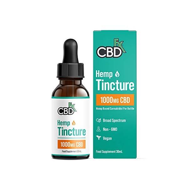 CBDfx CBD Oil Tincture – 1000mg CBD per 30ml Bottle