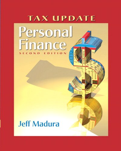 Personal Finance Tax Update with Financial Planning Workbook and Software (2nd Edition)