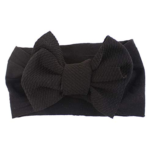 Baby Girls Headbands Baby Head Wraps Baby Headbands and Bows Chiffon Flower (black)
