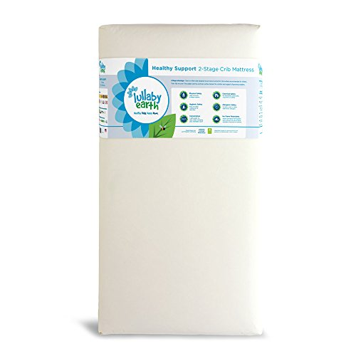 Lullaby Earth Non-Toxic 2-Stage Crib Mattress | 100% Waterproof - No PU Foam - No Flame Retardants Sleep Healthy Grow Healthy