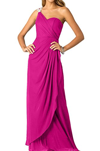 Promkleid Strass Ein Ivydressing Abendkleid mit Festkleid Schlter Damen Fuchsie Ballkleid ZqwR7FwAx