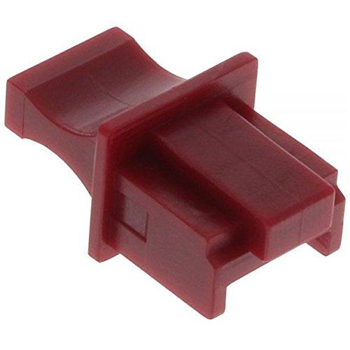 InLine® 18729 Tappo di Chiusura Antipolvere, Rosso 59942M