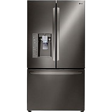 LG ENERGY STAR 23.7 cu. ft. 3-Door French Door Counter-Depth Refrigerator LFXC24726D