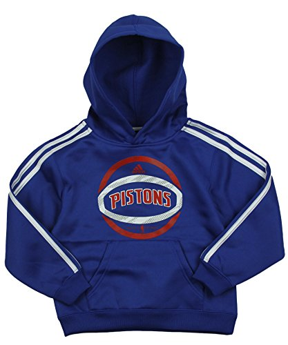 Detroit Pistons NBA Little Boys 3 Stripe Pullover Hoodie, Blue (Medium (5-6), Blue)