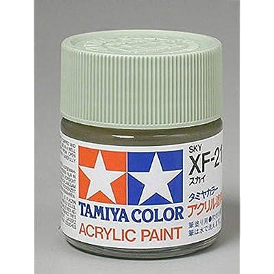 Tamiya America, Inc Acrylic XF21 Flat, Sky, TAM81321: Toys & Games