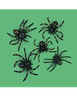 """Party902 - Strechy and Scary Plastic Spiders, 2"""", Made of plastic (1-Pack of 12)"""