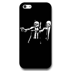 Onelee - Customized Personalized Black Hard Plastic 5c Case, Star Wars iPhone 5C case, Star Wars Han Solo, Death Star, Darth Vader, Logo iPhone 5c case, Only Fit iPhone 5C Case