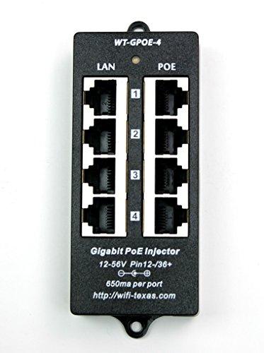 WT GPOE 4 gigabit injector 802 3af devices