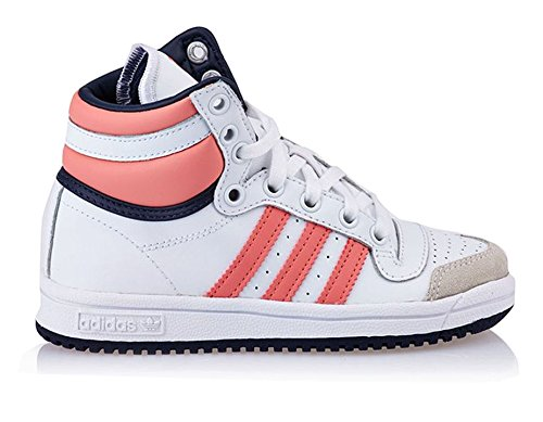 adidas M25299, Jungen Basketballschuhe weiß / Rosa / grau / marineblau