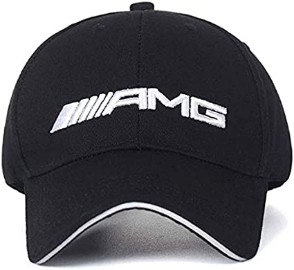 Pink JDclubs AMG Logo Embroidered Adjustable Baseball Caps for Men and Women Hat Travel Cap Car Racing Motor Hat