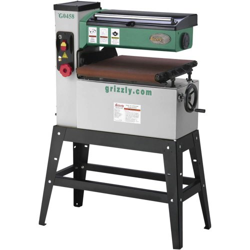 Grizzly G0458 1.5-HP Single-Phase Open End Drum Sander, 18-Inch