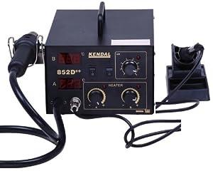 kendal 2 in 1 smd hot air rework soldering iron station 852d hot air reflow. Black Bedroom Furniture Sets. Home Design Ideas