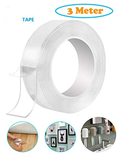 Unique Store Double Sided Adhesive Tape, Transparent Strong Adhesive Traceless Tape Removable Washable and Reusable Anti Slip Tape for Home Supplies | 3 Meter (B0831G2S53) Amazon Price History, Amazon Price Tracker