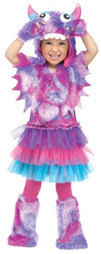 Fun World Costumes Baby Girl's Polka Dot Monster Toddler Costume, Pink/Blue, Large (Monster Costume Girls)
