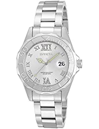 Women's 12851 Pro Diver Silver-Tone Watch with Crystal Accents