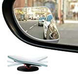 "Dependable Direct HD Frameless Blind Spot Mirror - Fan Shaped 2.5"" Convex Glass"
