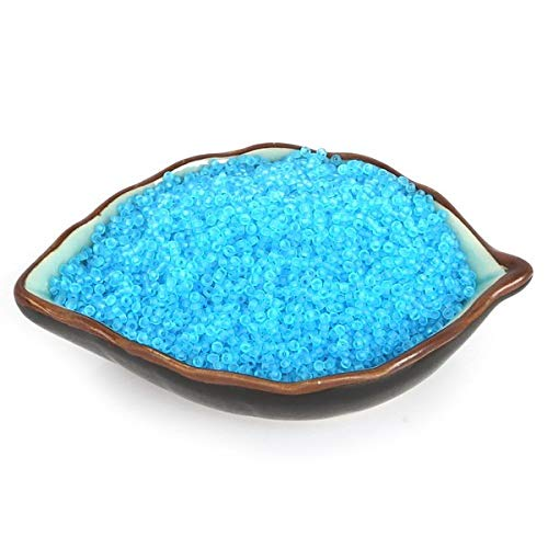 Calvas Frosted 2mm Glass Loose Specar Seed Beads Approx 2000pcs Pick 13 Color DIY Jewelry Drecorate Finding Craft Marking - (Color: Turquoise)