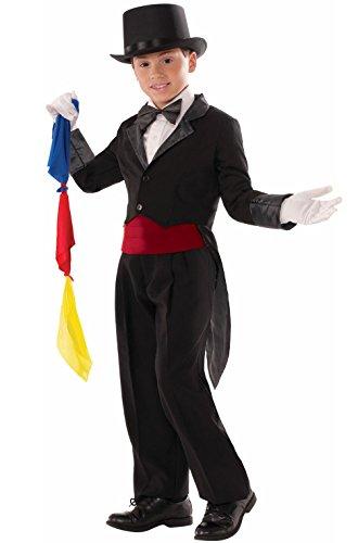 [Mememall Fashion Magic Tricks Magician Tailcoat Child Costume (Medium)] (Womens Tailcoat Costume)
