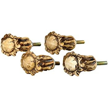 Antler Crown Cabinet Knobs   Set Of 4