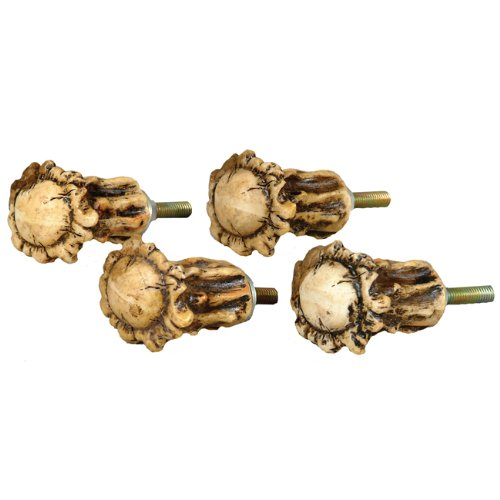 Antler Crown Cabinet Knobs - Set of 4 -