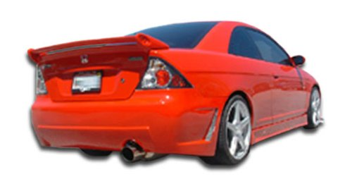 Duraflex ED-OGU-410 B-2 Rear Bumper Cover - 1 Piece Body Kit - Compatible For Honda Civic - Kit Body 2 Rear Bumper