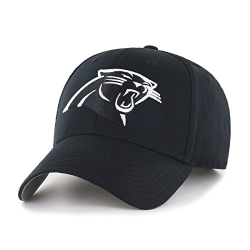 OTS NFL Carolina Panthers All-Star Adjustable Hat, Black & White, One Size -