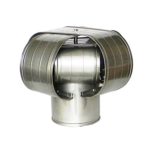 """10"""" Stainless Steel Vacu-Stack Chimney Cap for Solid Pack Chimney Pipe"""