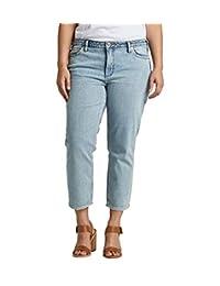Silver Jeans Co. Jeans de Corte Ajustado para Mujer, Talla Grande