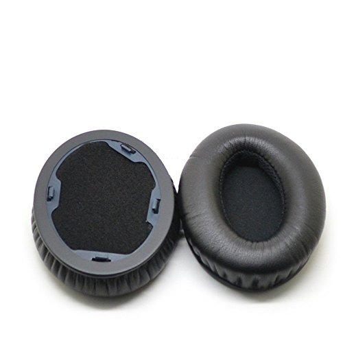 VEVER 1Pair Replacement Ear Pads Earpuds Ear Cushions Cover for Monster Beats by Dr. Dre Studio Headphones - Old Version (Not for Solo Headphones) (with VEVER Logo Package) (Studio-BK) (Monster Beat Dr Dre)