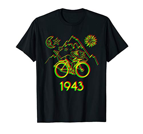 Tee Bicycle - Bicycle Day 1943 LSD Acid Hofmann Trip t-shirt