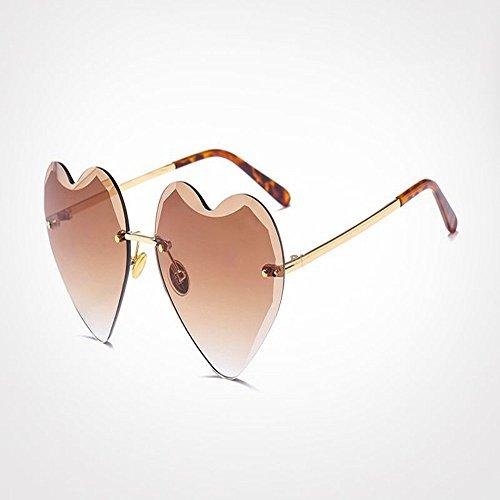 Caramelo De Sol De 3 Gafas De Uv400 Amor De En Forma Corazón Sol Marco De 6 G22096 Sin De En Mujeres Gafas Corazón Chica Señora Gafas Forma De WANGKEAI Px7gff