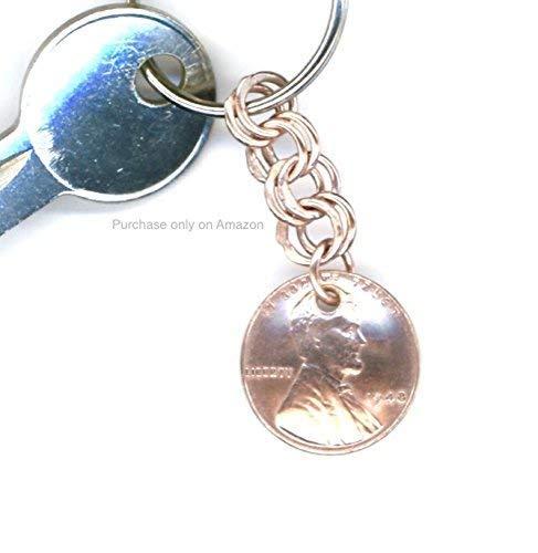 bcc13f74217f7 Amazon.com: 71st Birthday Gift Women 1948 Penny Keychain Coin: Handmade