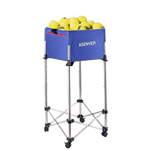 YYMN-Tennis-Ball-Cart-Hold-Up-to-160-BallsAdjustable-Height-Teaching-Ball-HopperEnnis-Ball-Hopper-Basket-Tennis-Ball-Basket-Tennis-Accessories-Tennis-Gift-Lightweight-Portable