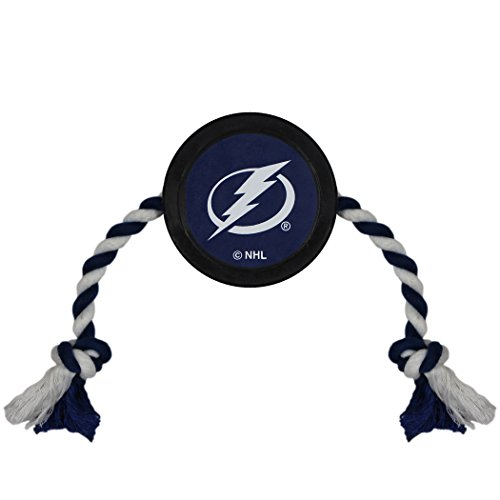 NHL TAMPA BAY LIGHTNING PUCK TOY for DOGS & CATS. Play Hockey with your Pet with this Licensed Dog Tough Toy ()