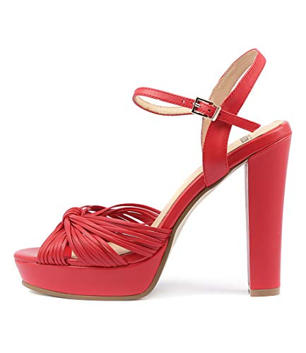 Sandals Shoes High Leather MOLLINI Red Heels Womens MANNIEST vCx7qp