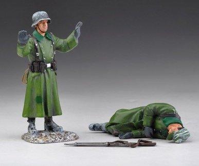 Thomas Gunn Miniatures SS013B German SS Dead and Surrendering - Winter