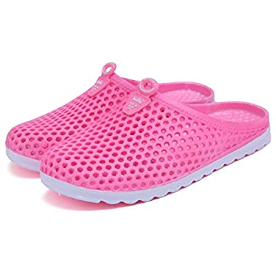 BADIER Men Women Mesh Garden Clog Shoe Walking Beach Slippers