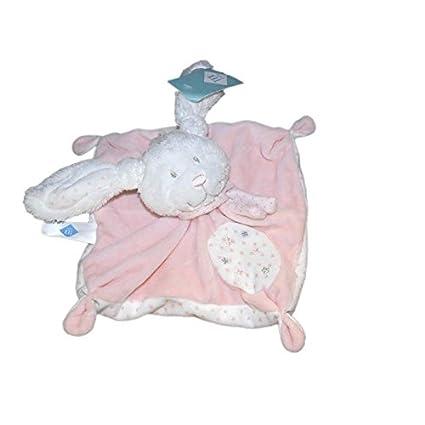 Doudou plana conejo rosa blanco Etoiles – Tex Baby Carrefour