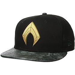 New Era Cap Men's Justice League Aquaman 9FIFTY Snapback Cap, Tan, One Size