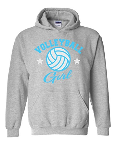 Acacia Plush Volleyball Girl Unisex Hoodie Sweatshirt XXX-Large Sport Grey