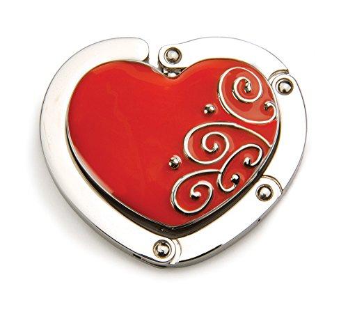 Alexx, Hang 'em High Purse Hanger Ruby Red Heart Shaped Purse Hanger