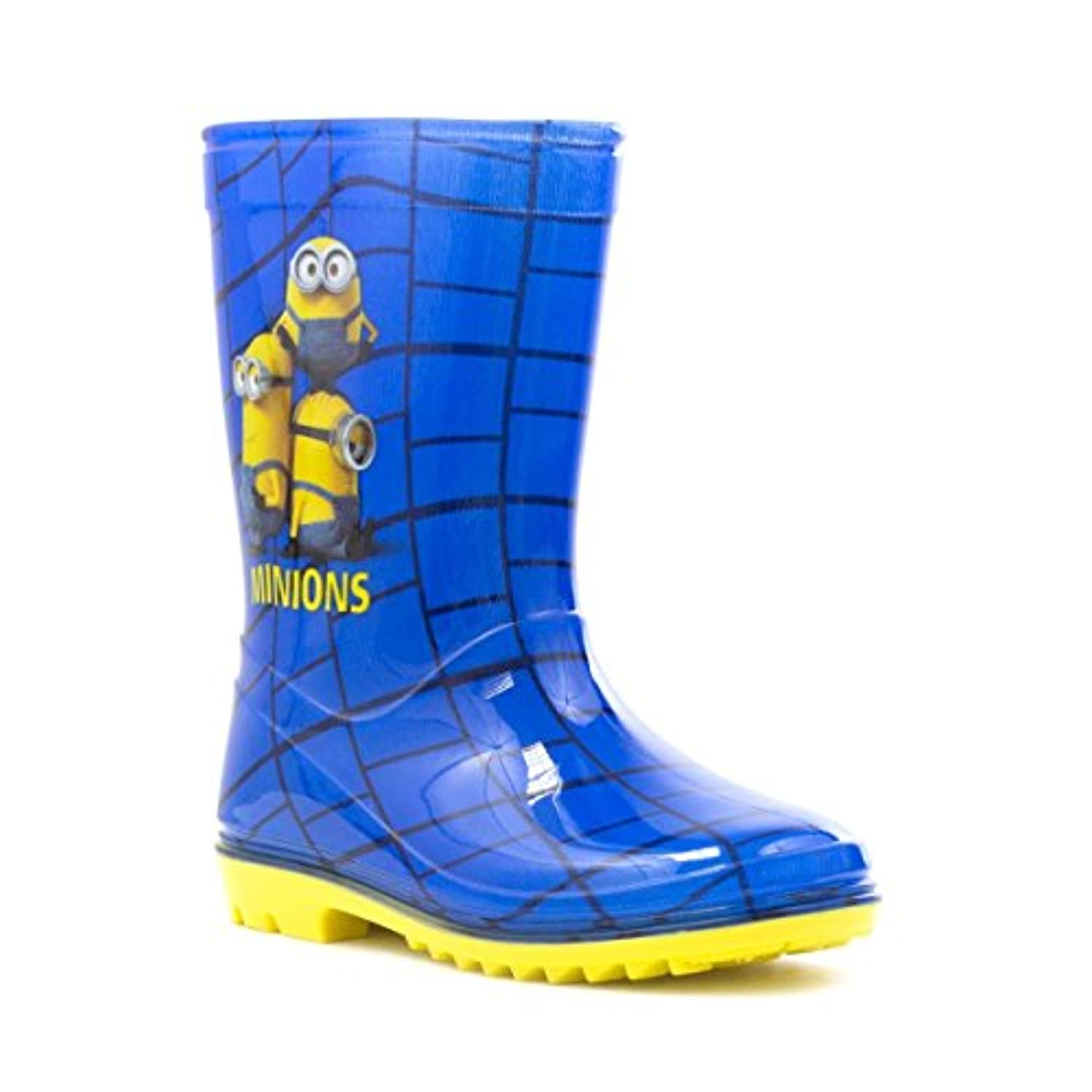 Despicable Me Minions Kids Blue and Yellow Welly - Size 24 - Blue