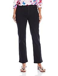 Nydj Women's Size Marilyn Straight Leg Jeans, Black, 12 Petite