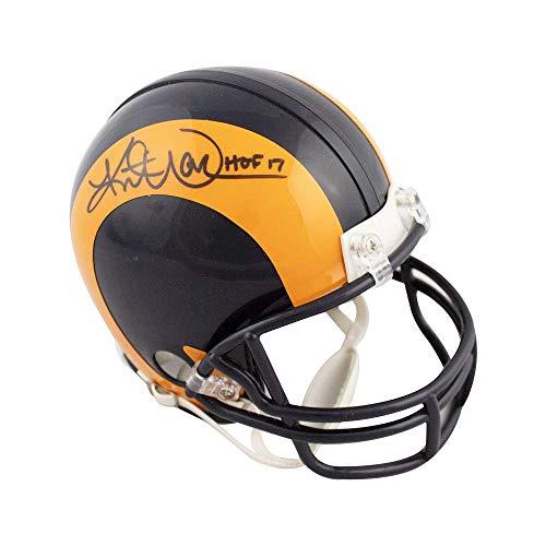 Kurt Warner HOF Autographed St Louis Rams Mini Football Helmet - BAS ()