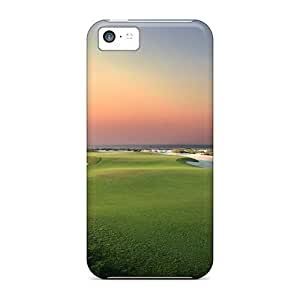 USMONON Phone cases Ultra Slim Fit Hard Case Cover Specially Made For Iphone Iphone 5c- Sunset Golf
