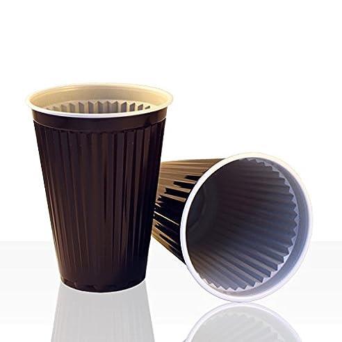 1.000 Stück Automatenbecher, Kaffeebecher braun/weiß 180ml: Amazon ...