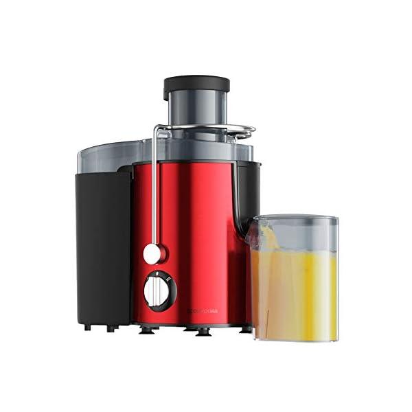 Zmsdt Juicer Sali estrattore di succo in bocca, velocità centrifuga spremiagrumi macchina for la frutta e Piedi Vegs, antiscivolo, BPA-free, facile e veloce Clean (Color : Red) 1 spesavip